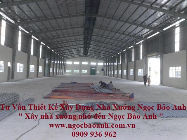 xây dựng nhà xưởng long an ( Cty Ngọc Bảo Anh )