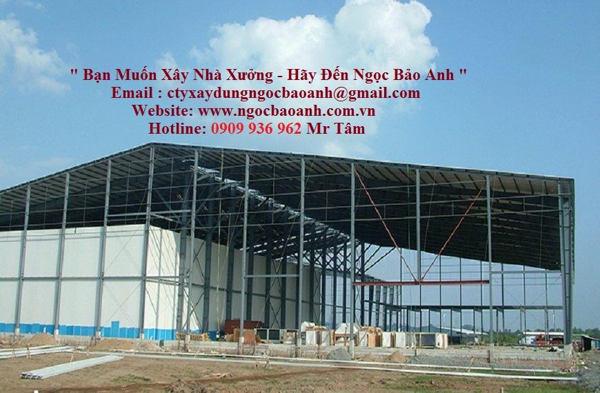 xây dựng nhà xưởng (cty Ngọc Bảo Anh)