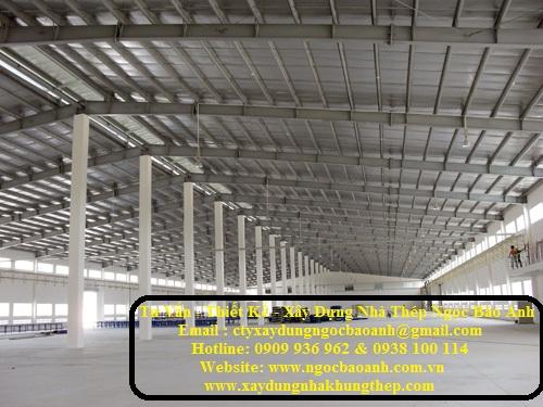 Xây dựng nhà kho tại Hóc Môn
