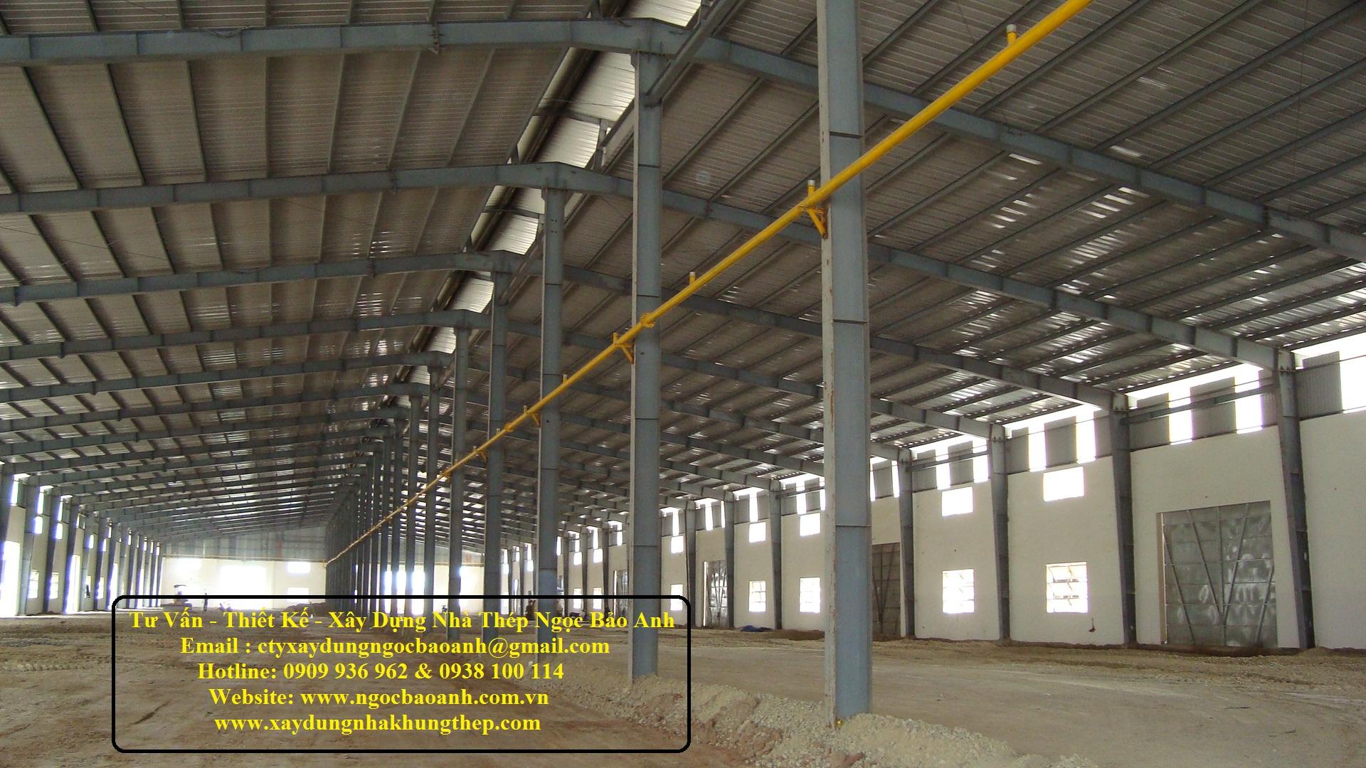 Xây dựng nhà kho tại quận 12 TPHCM