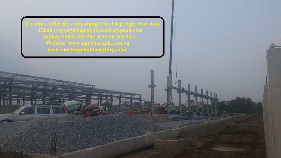 Xây dựng nhà xưởng tại Bến Lức Long An