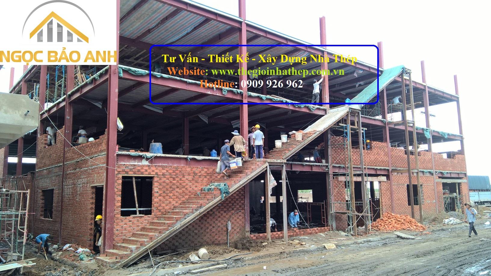 Xây dựng nhà khung thép tại Đức Hòa Long An