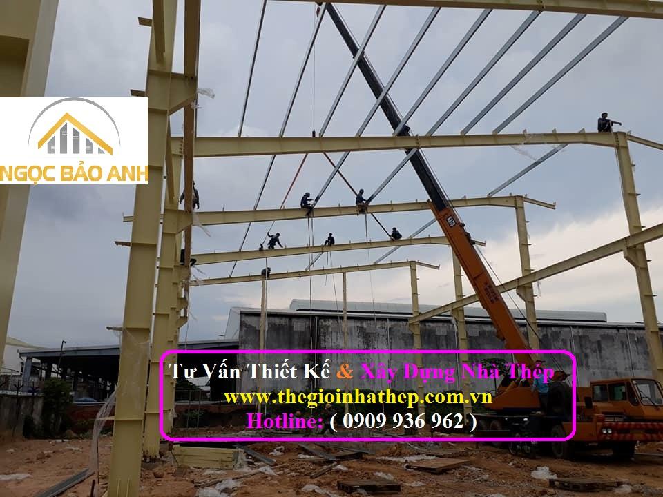 Xây dựng nhà thép tại Long An