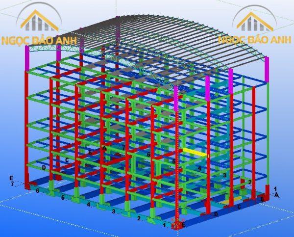 thiết kế thi công nhà thép tiền chế 2,3,4,5,6,7 tầng
