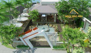 thiết kế quán cafe vườn đẹp