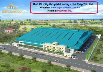 xây dựng nhà xưởng tại KCN Long Hậu Tỉnh Long An