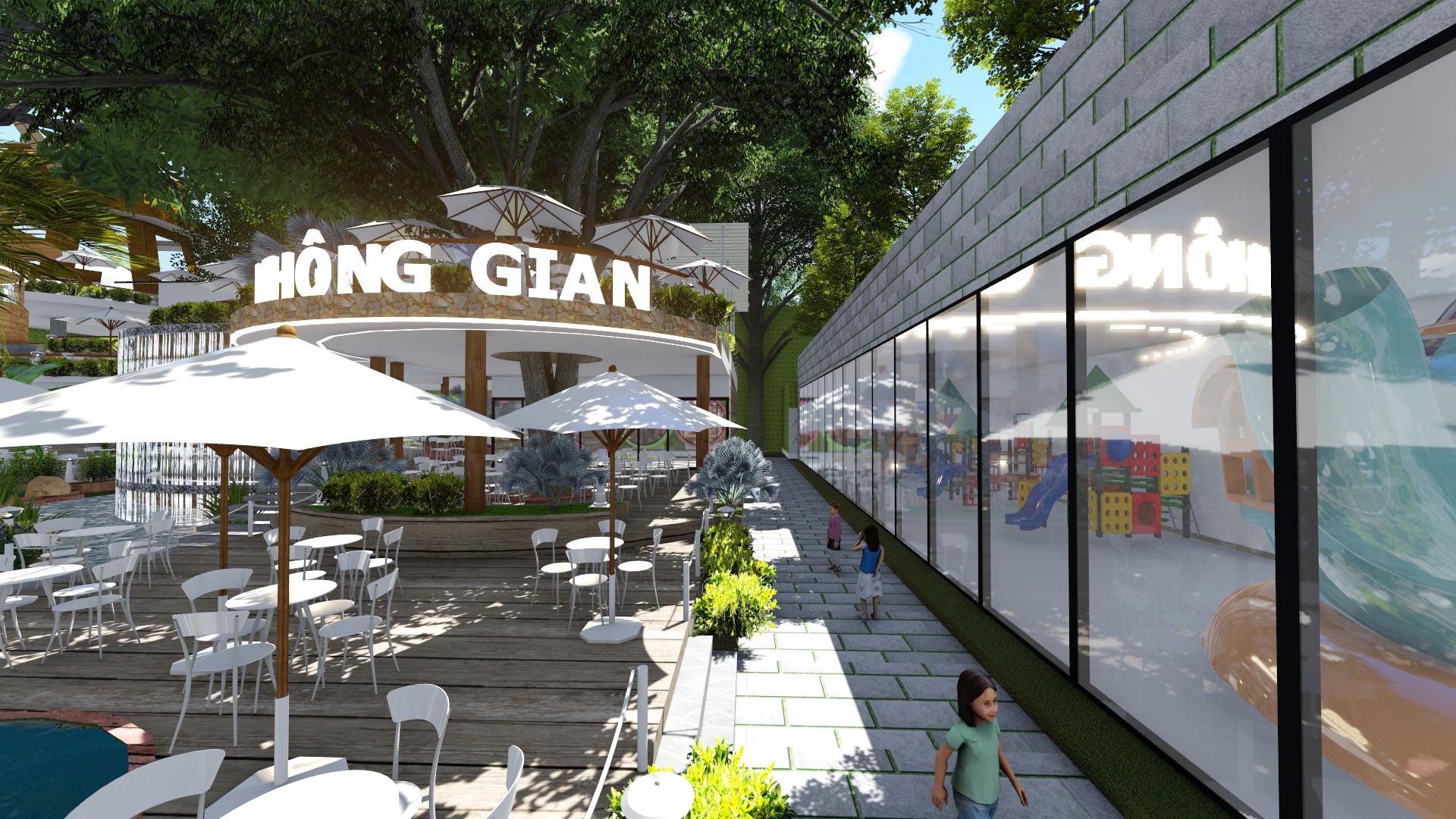 Thiết kế quán cafe sân vườn (2)