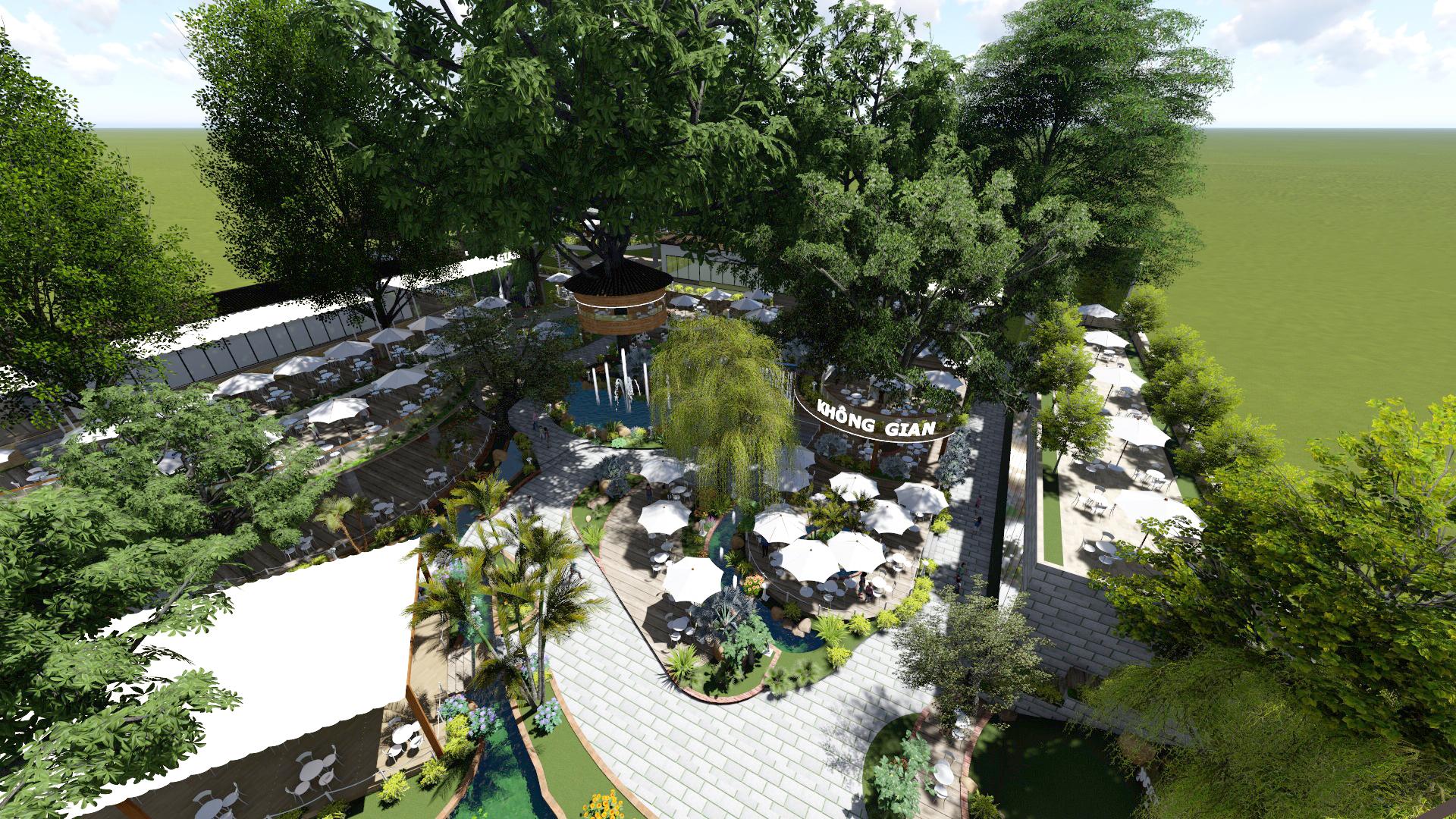 Thiết kế quán cafe sân vườn (4)