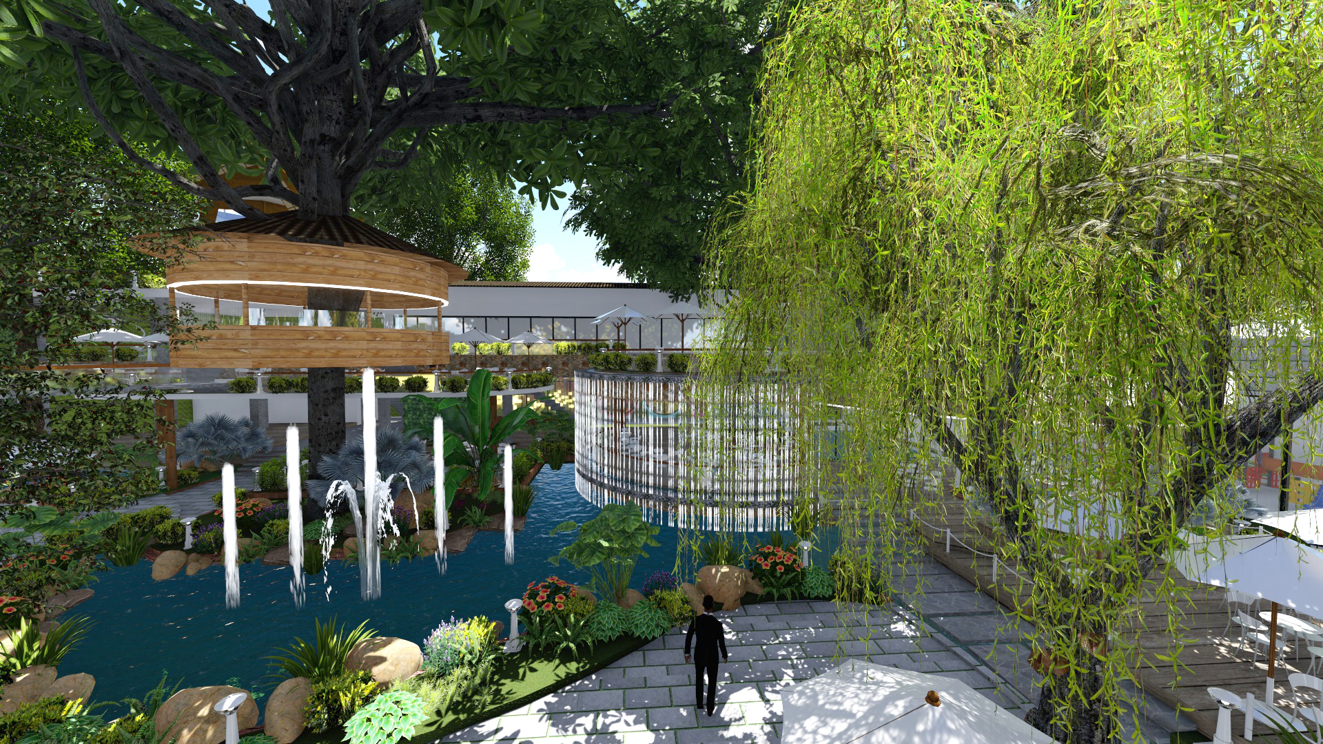 Thiết kế quán cafe sân vườn (6)