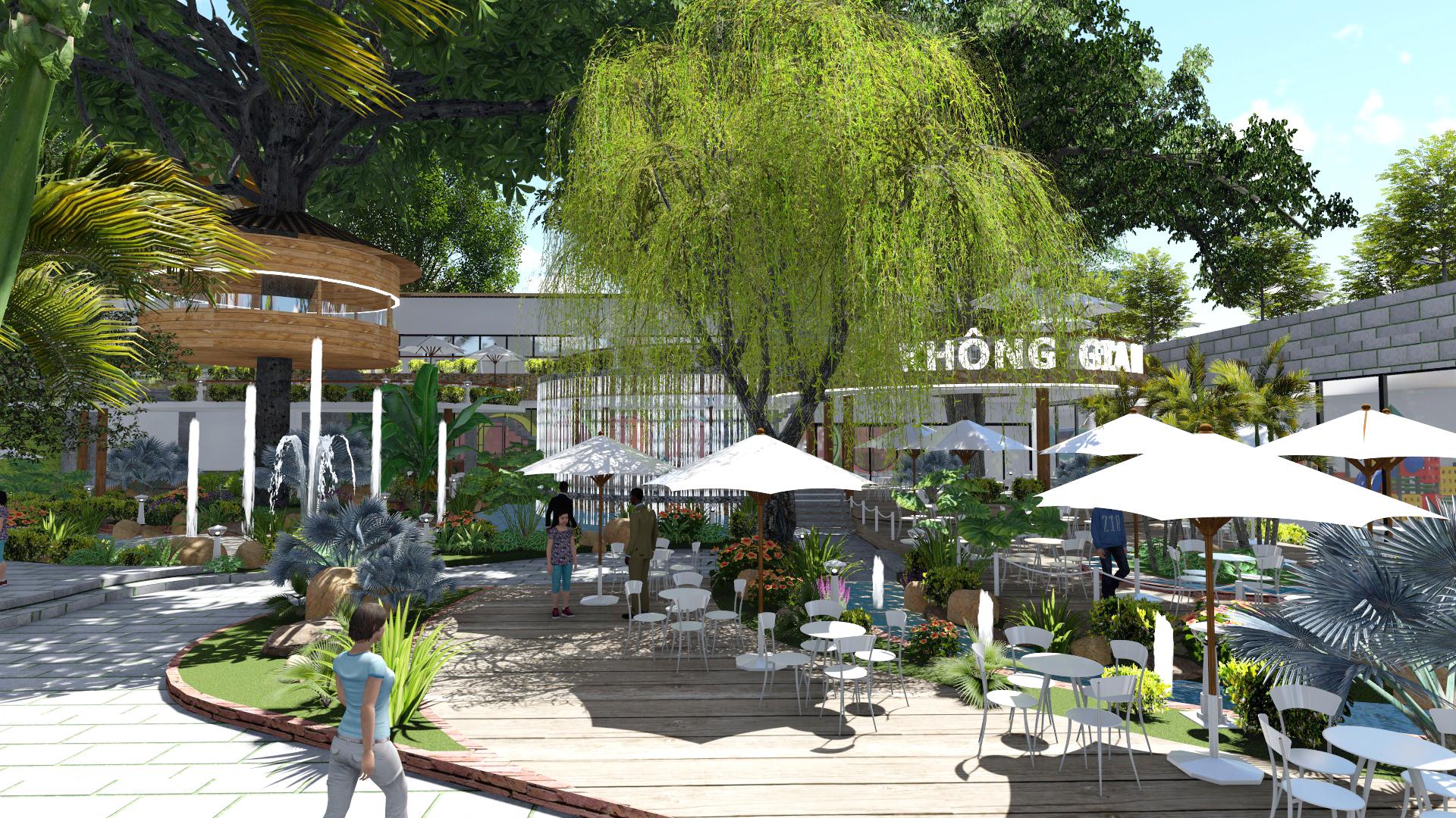 Thiết kế quán cafe sân vườn (7)