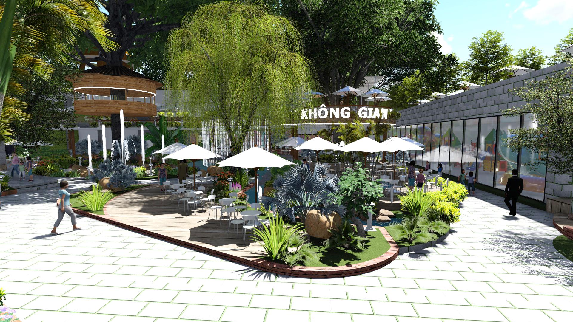 Thiết kế quán cafe sân vườn (8)