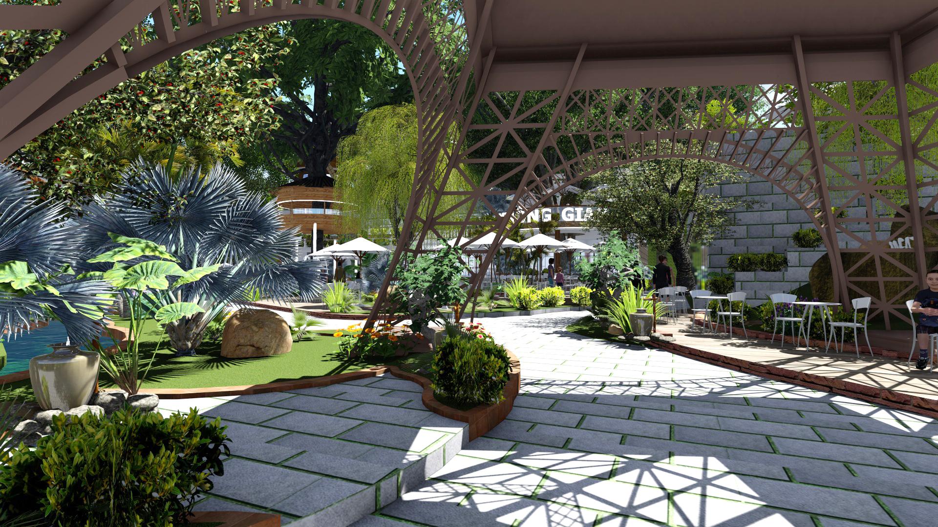 Thiết kế quán cafe sân vườn (9)
