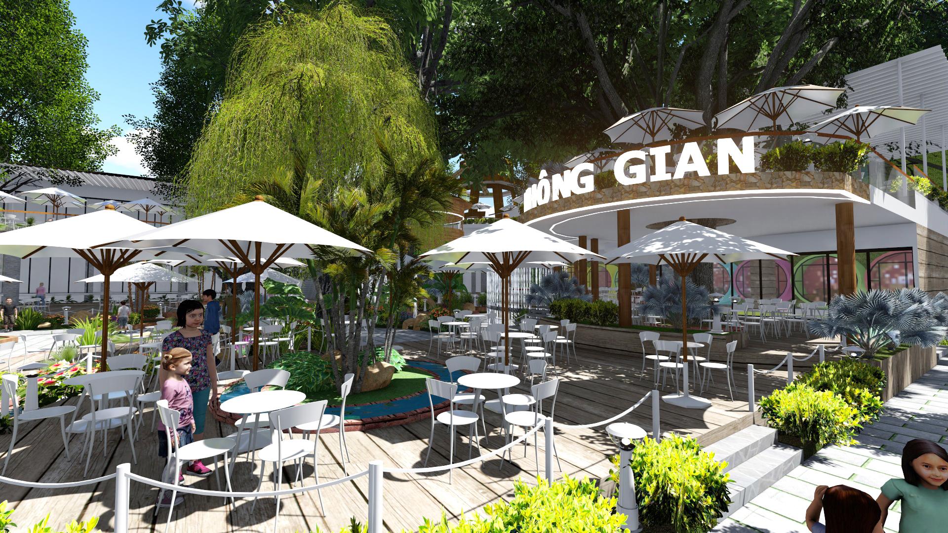 Thiết kế quán cafe sân vườn Tại Bà Rịa