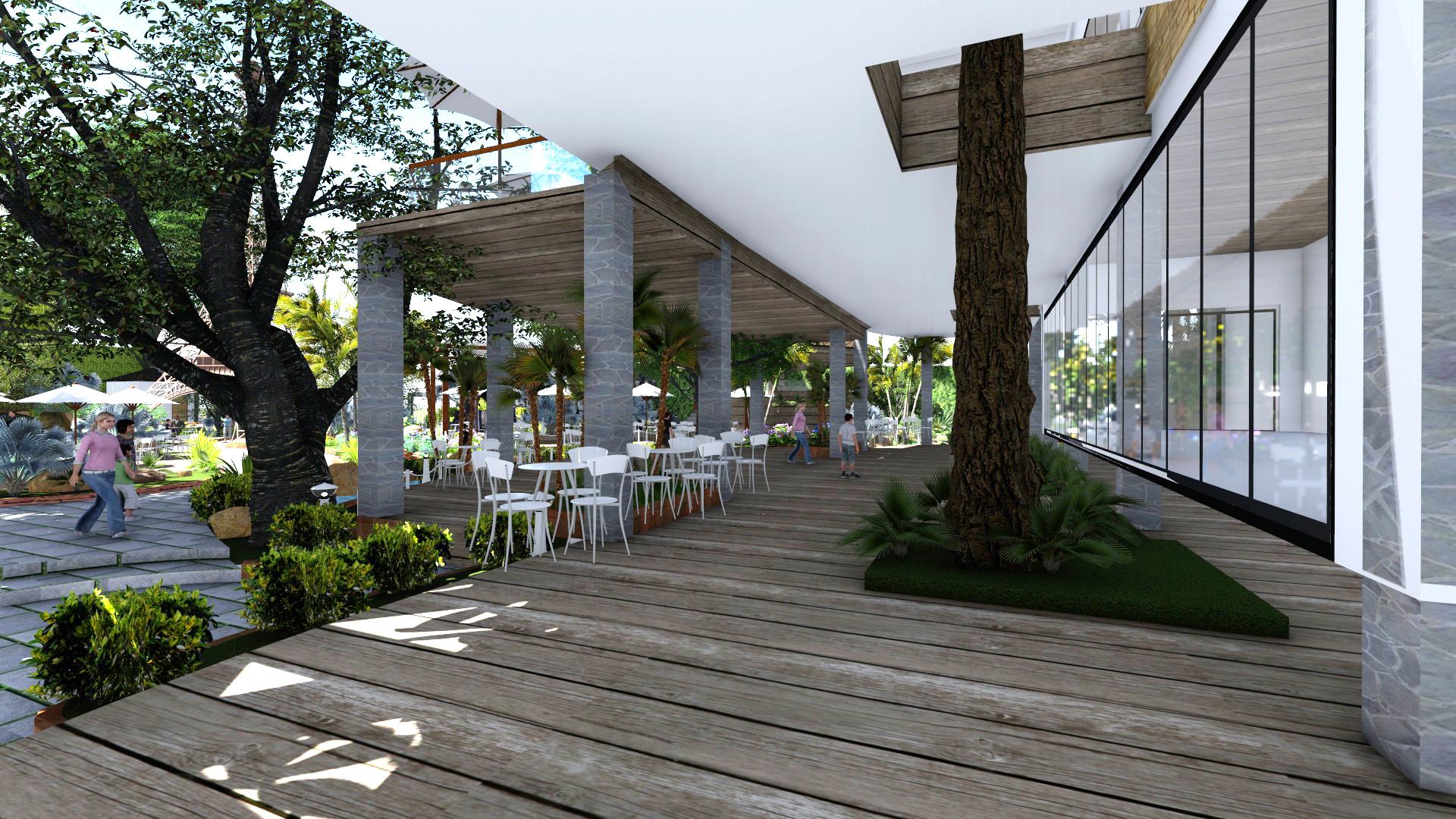 Thiết kế quán cafe sân vườn Tại Long Thành