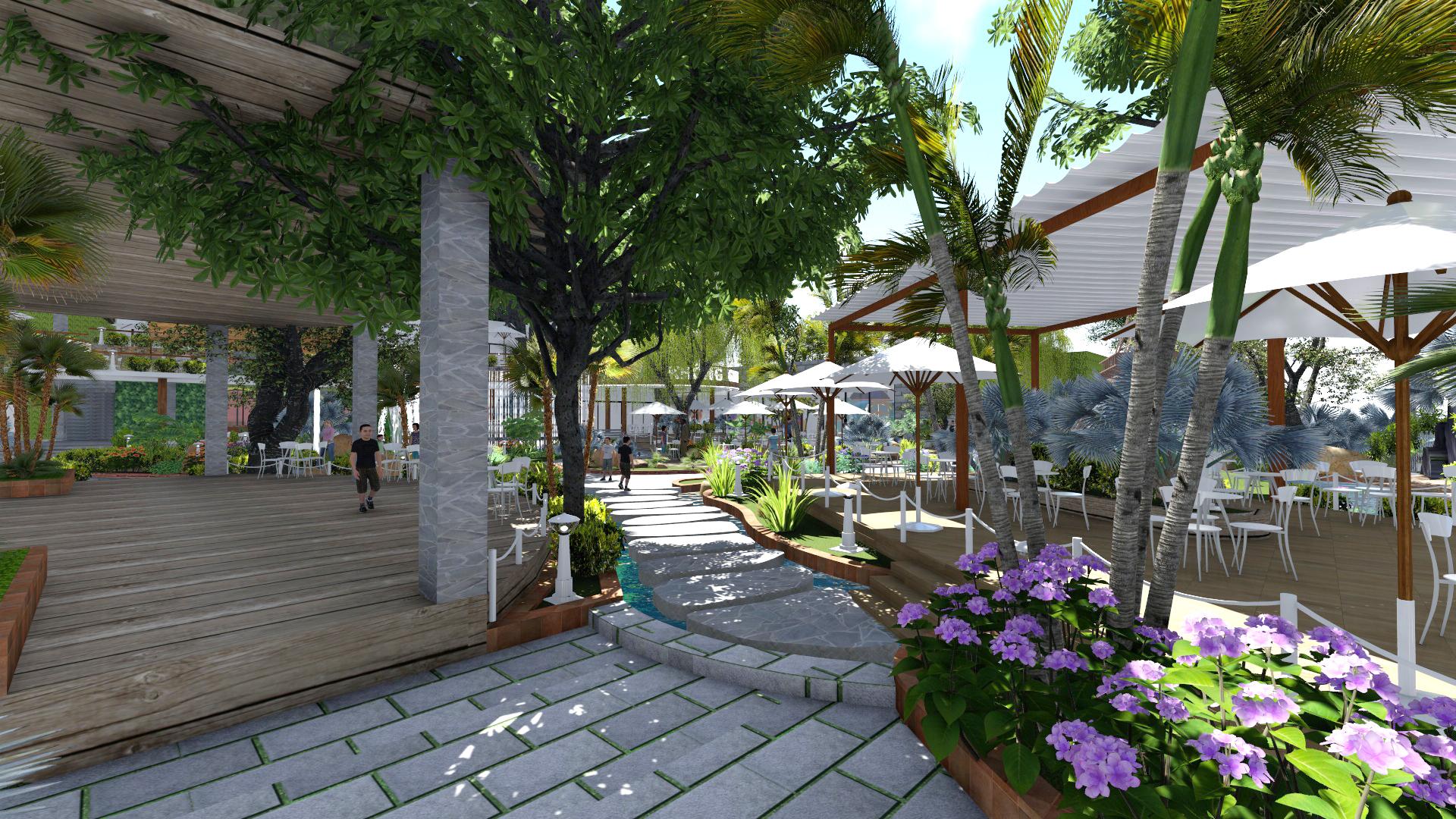Thiết kế quán cafe sân vườn Tại Phú Yên