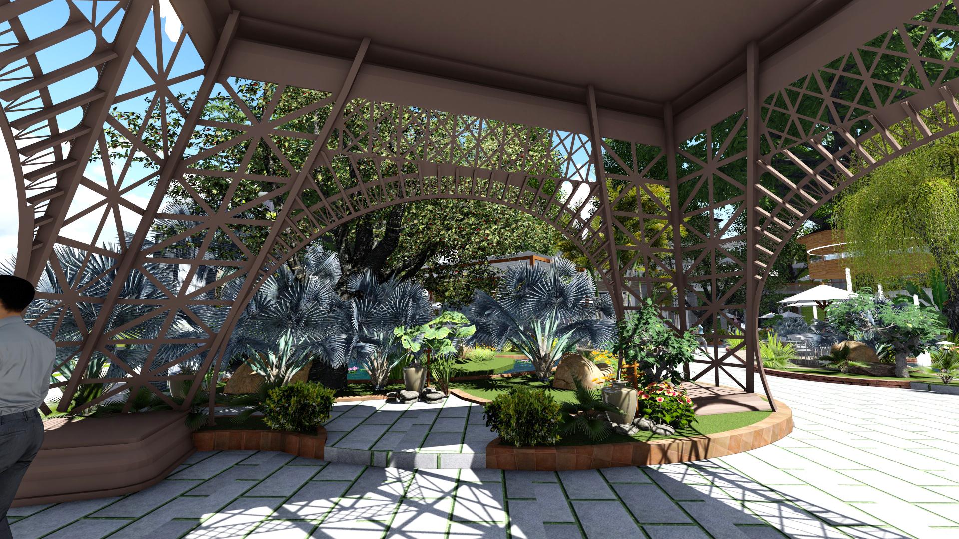 Thiết kế quán cafe sân vườn tại Đồng Nai (2)
