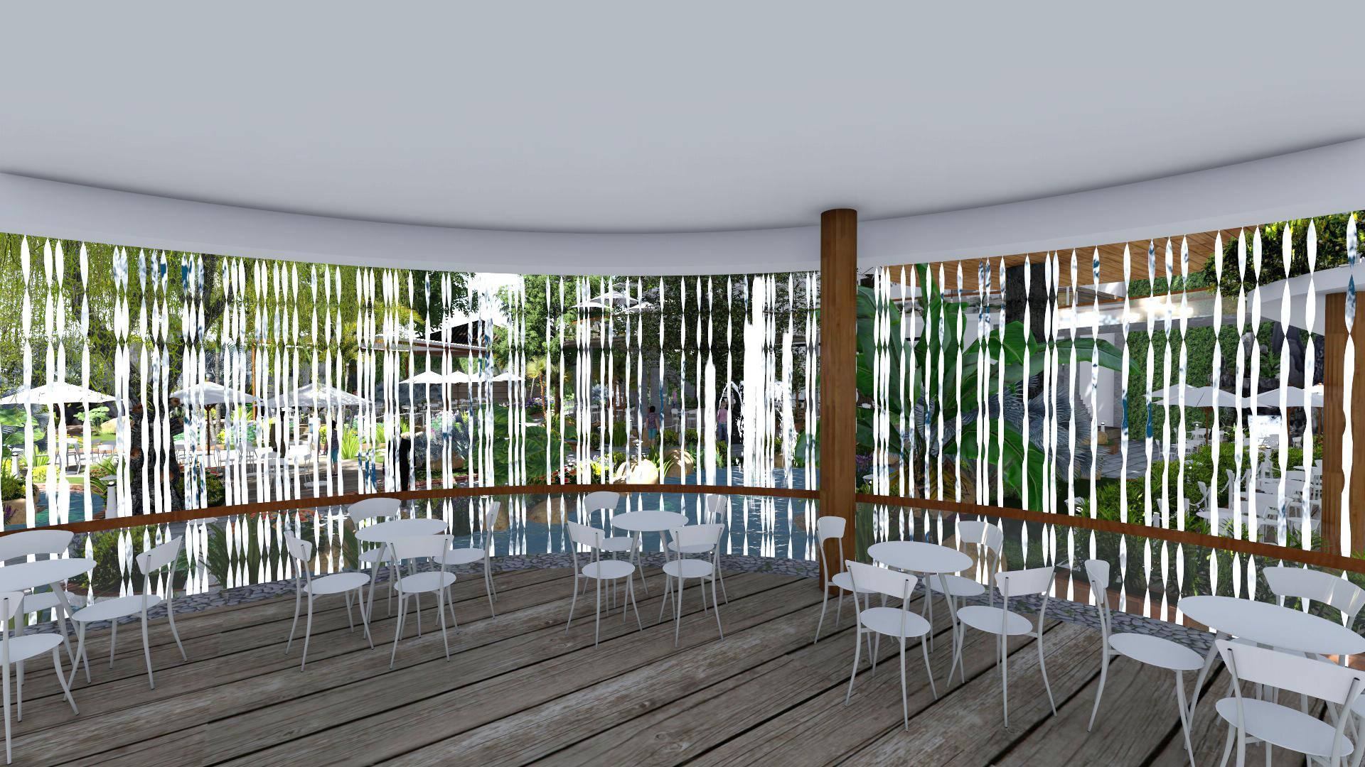 Thiết kế quán cafe sân vườn tại Bình Tấn