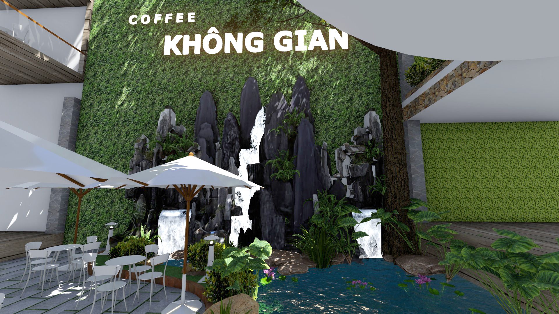 Thiết kế quán cafe sân vườn tại Củ Chi (2)