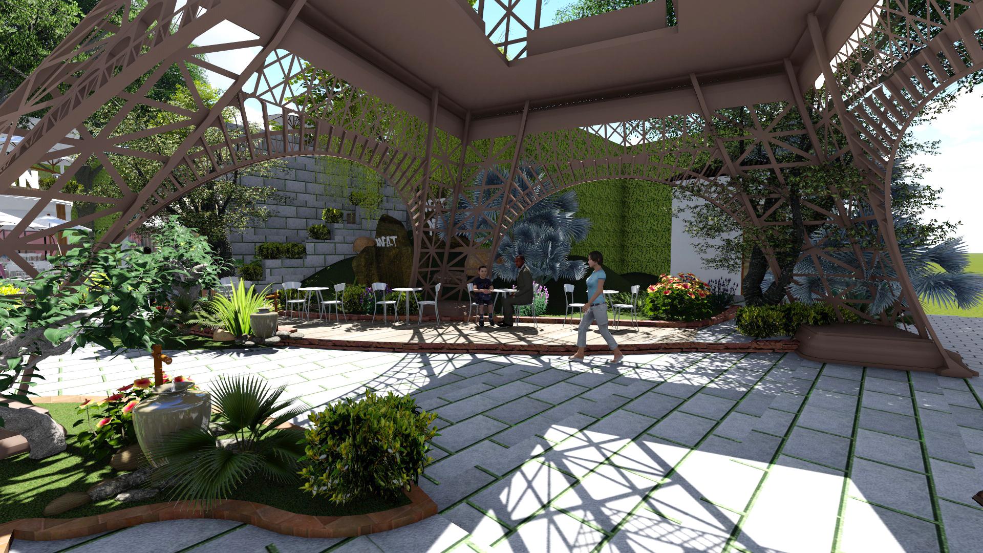 Thiết kế quán cafe sân vườn tại Củ Chi