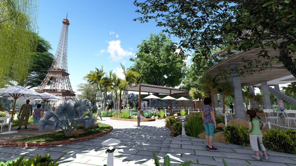 Thiết kế quán cafe sân vườn tại Tân Bình