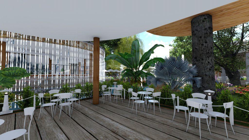 Thiết kế quán cafe sân vườn tại Tân Phú