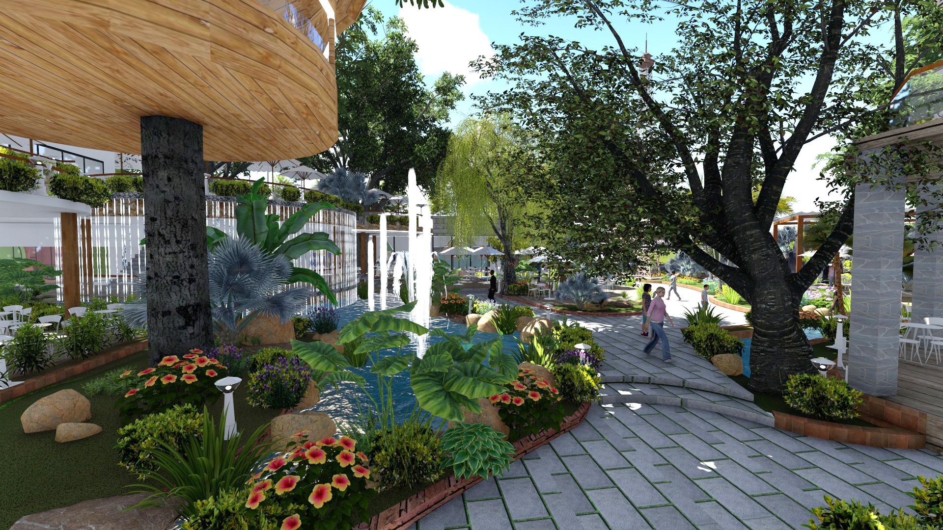 Thiết kế quán cafe sân vườn tại Thủ Đức