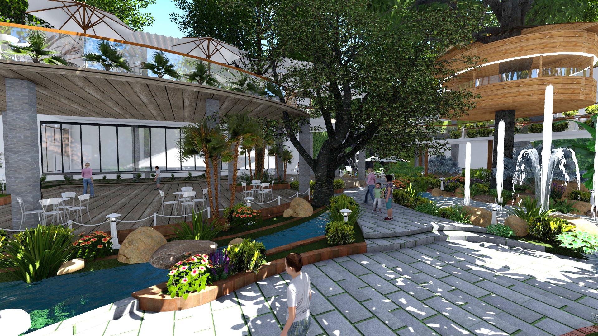 Thiết kế quán cafe sân vườn tại gò vấp (2)