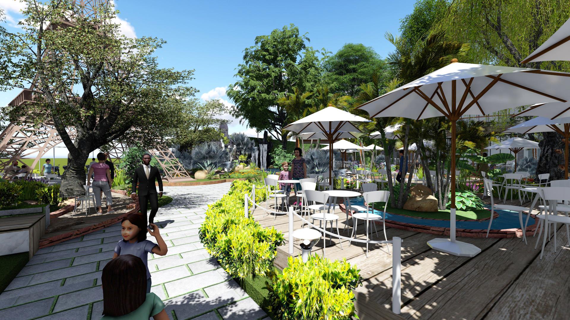 Thiết kế quán cafe sân vườn tại nhà bè