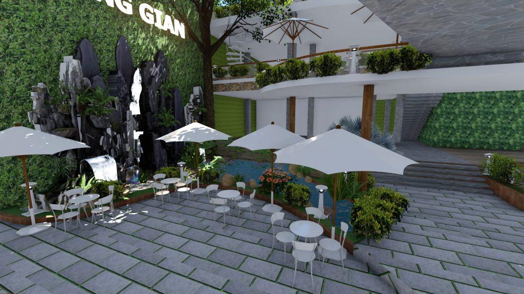 Thiết kế quán cafe sân vườn tại quận 12 (2)