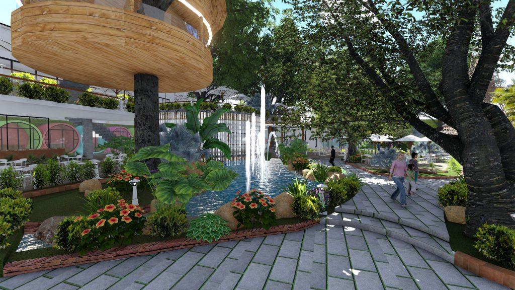 Thiết kế quán cafe sân vườn tại quận 12 (3)