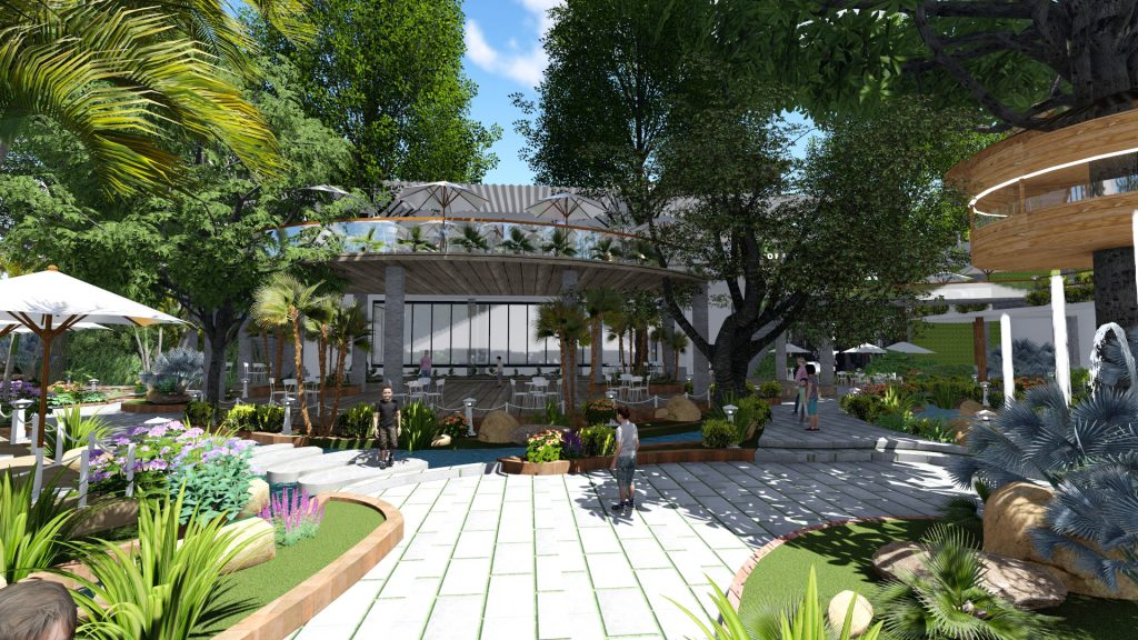 Thiết kế quán cafe sân vườn tại quận 7
