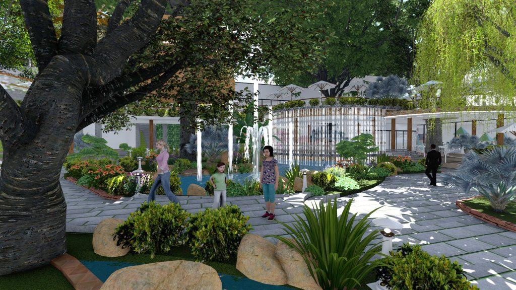 Thiết kế quán cafe sân vườn tại quận 9 (2)