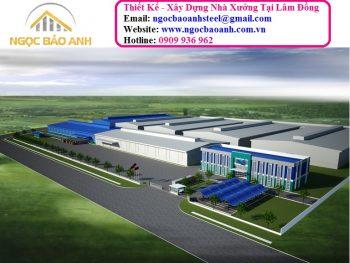 Thiết kế xây dựng nhà xưởng sản xuất tại Lâm Đồng