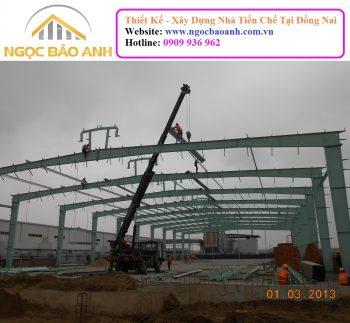 Thi công nhà xưởng Trảng Bom Đồng Nai