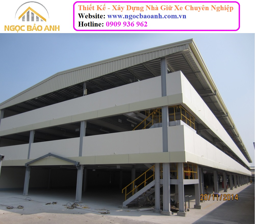 xây dựng nhà giữ xe tại Tp.HCM
