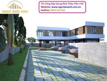 Thiết kế thi công biệt thự vườn bằng nhà thép tiền chế