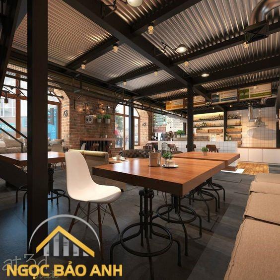 thiết kế cafe văn phòng đẹp