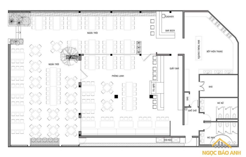 thiết kế nhà hàng quán nhậu