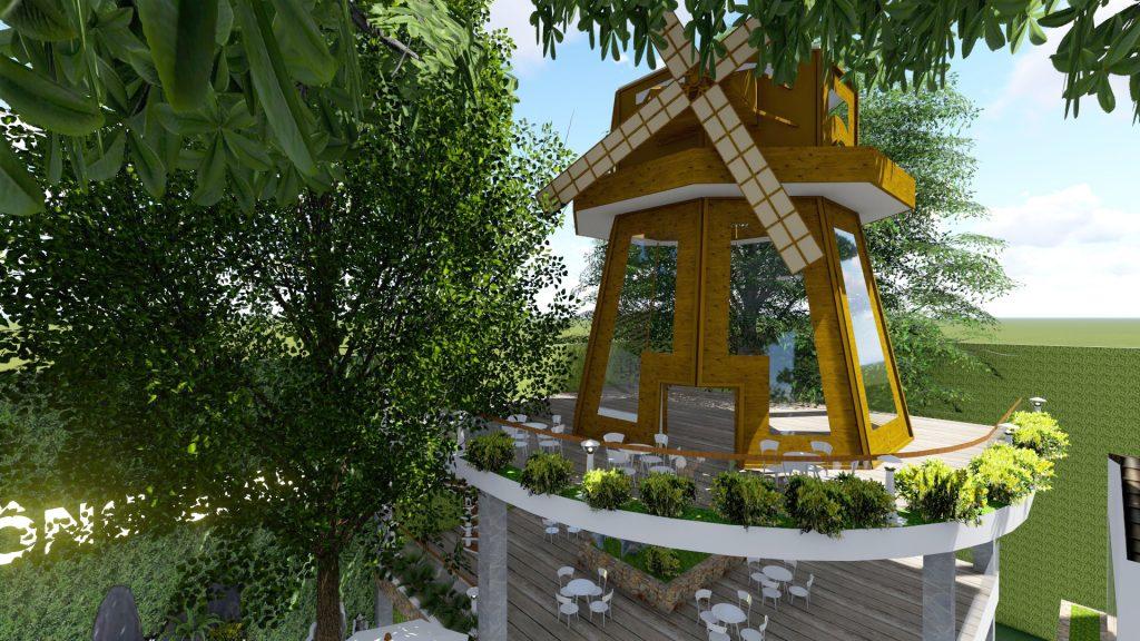 Thiết kế quán cafe sân vườn 1000m2