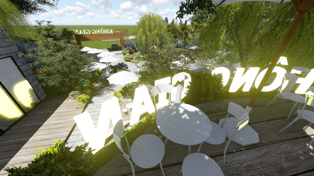 Thiết kế quán cafe sân vườn 2000m2