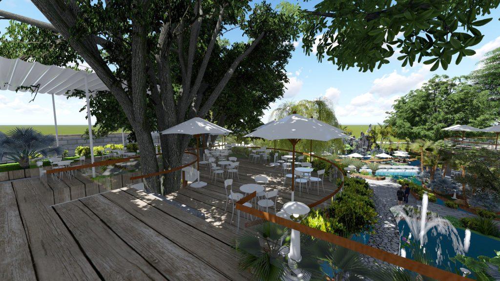Thiết kế quán cafe sân vườn 3000m2