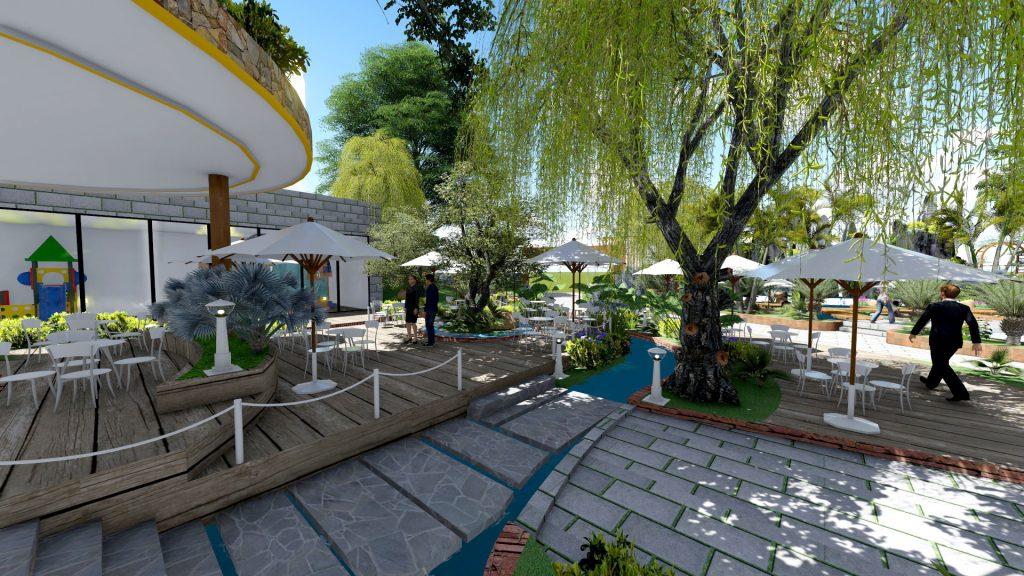 Thiết kế quán cafe sân vườn 6000m2