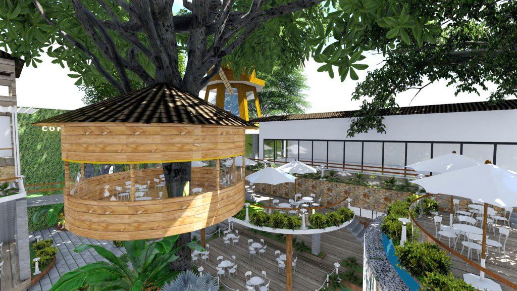 Thiết kế quán cafe sân vườn Bình Chánh