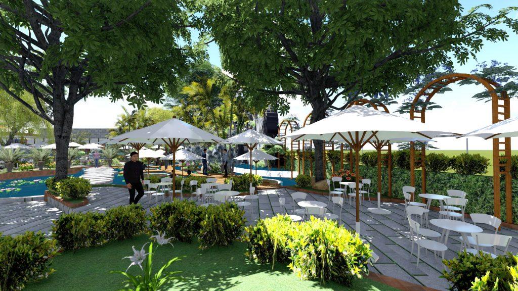Thiết kế quán cafe sân vườn Bình Thạnh