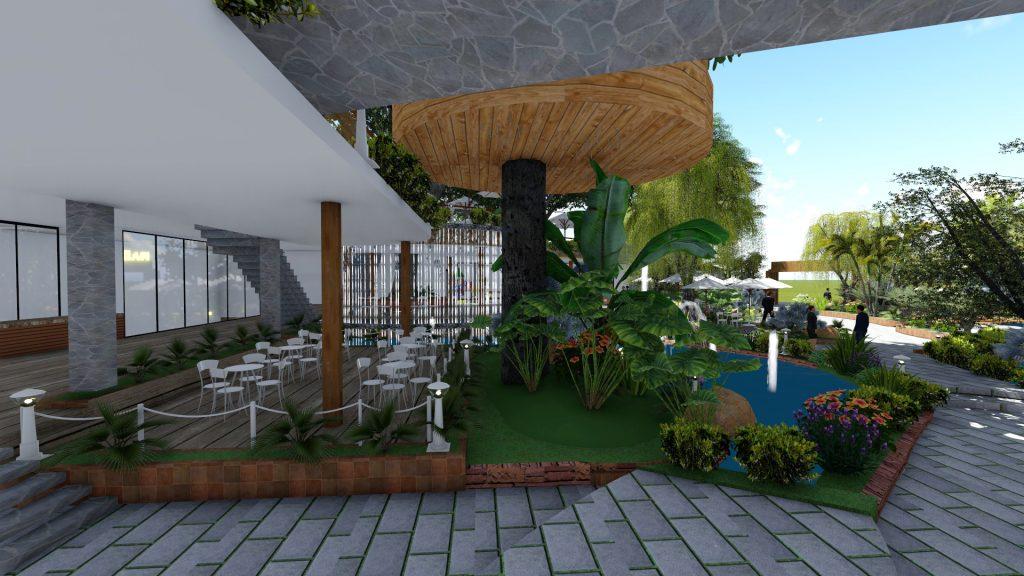 Thiết kế quán cafe sân vườn Biên Hòa Đồng Nai