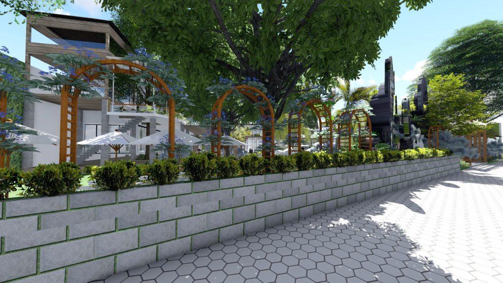 Thiết kế quán cafe sân vườn Củ Chi (2)