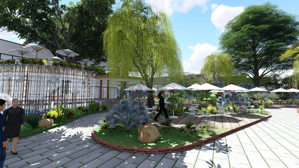 Thiết kế quán cafe sân vườn Chợ Gạo