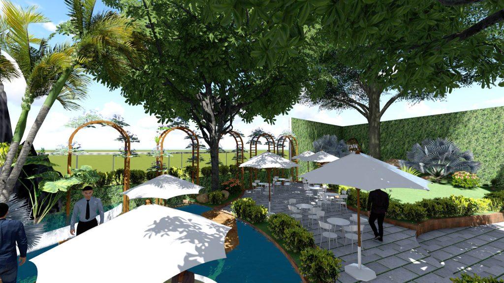 Thiết kế quán cafe sân vườn Tân Bình