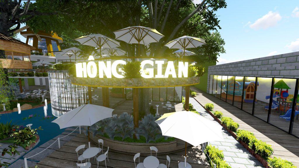 Thiết kế quán cafe sân vườn Tây Nguyên