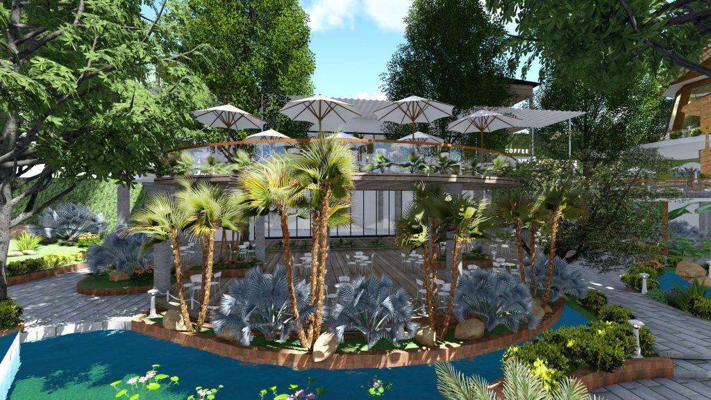 Thiết kế quán cafe sân vườn Tiền Giang